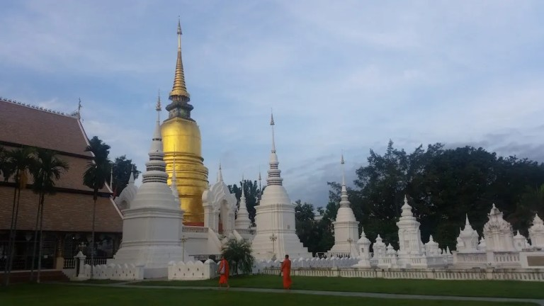 Temple with monks