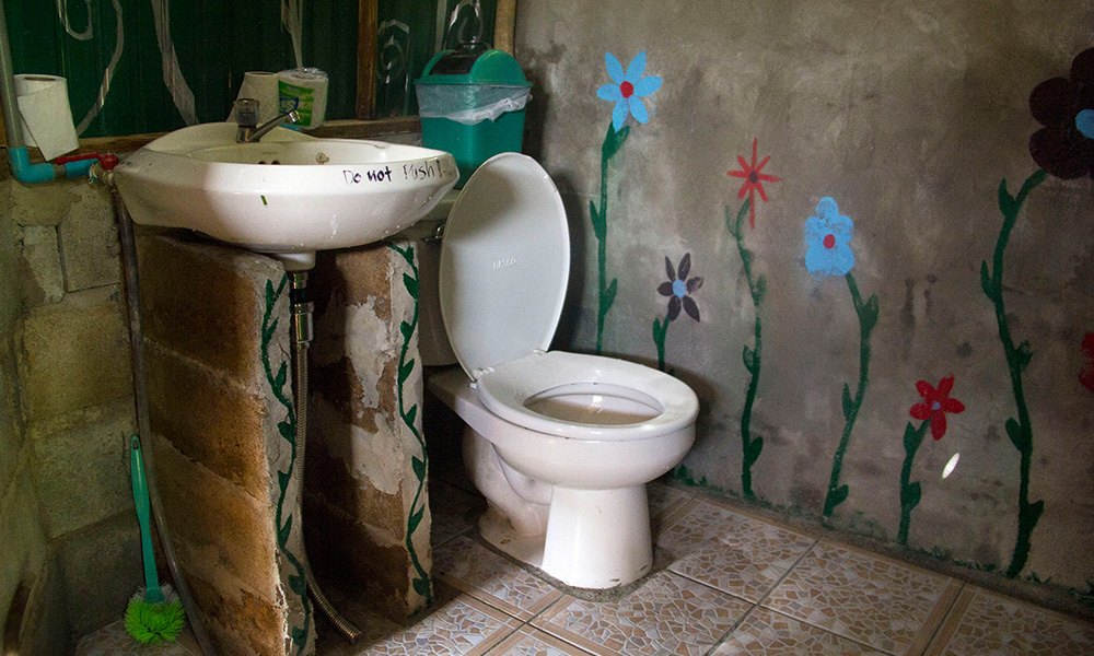 Toilet in family bungalow