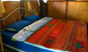 Bed in family bungalow
