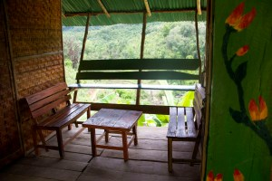 Terrace at family bungalow