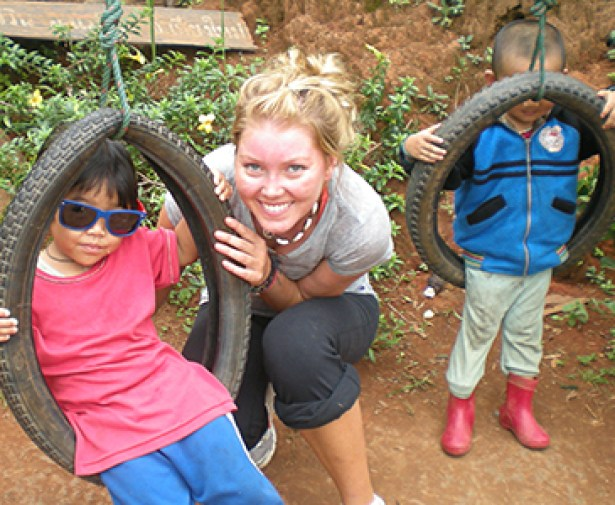 Fun times with kids from Karen village.