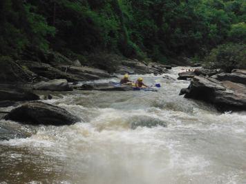 Navigating the river rapids