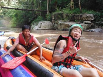 Canoeing with first guests was awesome!