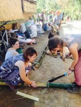Preparing bamboo stem for planting