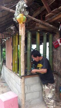 Tawan doing welding work