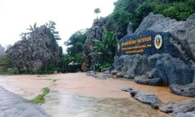 เชียงราย, น้ำท่วม, น้ำป่าจากดอยนางนอนทะ , ลักท่วมทางเข้าถ้ำหลวงแม่สาย