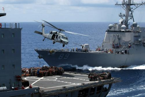 Seahawk Helicopters from the USS Mustin Help Thai Government