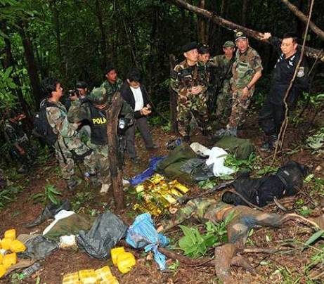 Boarder Shoot out 8 Drug Smugglers Shot Dead in Chiangrai