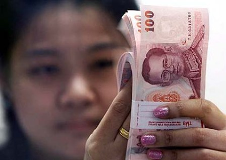 The baht climbed to a 17-month high on Thursday,