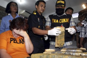 She was arrested after a flight from Bangkok, Thailand,