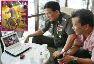 """Pol.Maj.Gen. Chamnarn said that the video of the gang members dancing naked to """"Harlem Shake"""" was taken in a hotel in Pattaya, and the other videos were filmed in Chiang Mai."""
