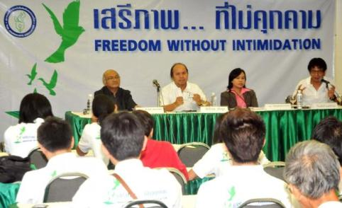 """TJA president Pradit Ruangdit said this year's theme """"Freedom without Intimidation"""""""