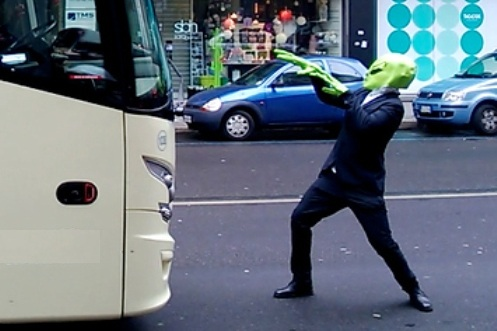 Phummarin, 31, allegedly told police he had to hijack the bus because his alien friends had failed to pick him up