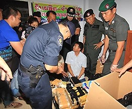Police in Ayutthaya arrest 4 suspects and seize 168,000 meth pills on Sunday