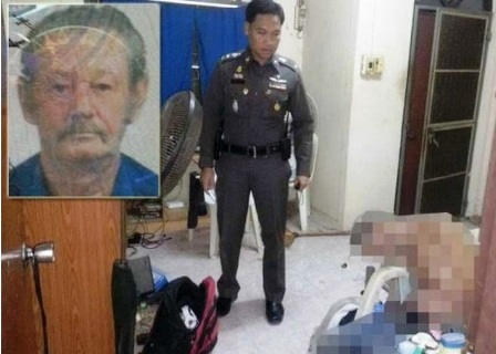 Keith Lanyon was found dead on a chair in his home in Kanchanaburi's Muang district amidst a large quantity of alcoholic beverages