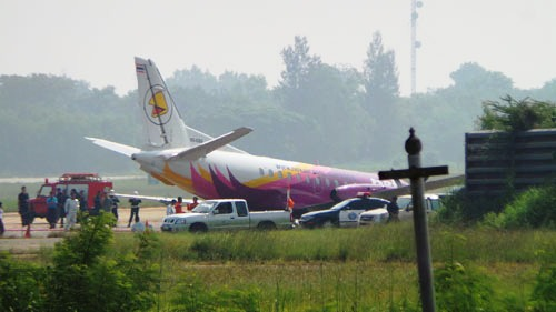 The flight came from Chiang Mai and landed at Undon Thani airport.