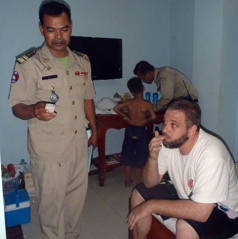 Pervert Richard Fruin, 35, was arrested in the capital Phnom Penh by cops who swooped on his room.
