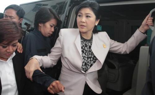 Even if MS Yingluck is found guilty of any wrongdoing in the 2 cases, which would be forwarded to a criminal or civil court, she could still legally keep her status as head of the caretaker government