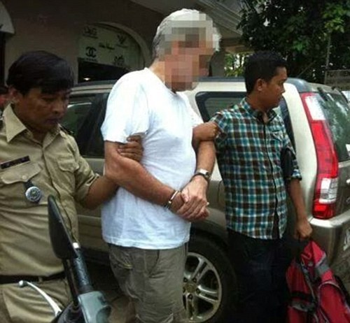 Sydney travel agent Trevor Lake, 65, (above) who has been working in the south-east Asian tourism industry for 28 years, was arrested in the tourist town of Siem Reap. Under Cambodian law it is illlegal to pay for sex with someone aged under 18.