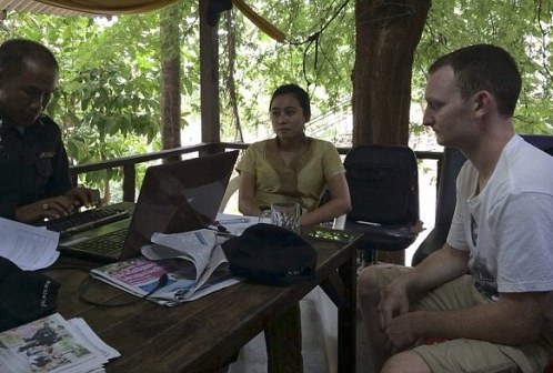 Mr Ware left the holiday island of Koh Tao yesterday but returned this morning in response to a request from police, it has been reported Read more: http://www.dailymail.co.uk/news/article-2758358/British-man-questioned-two-British-tourists-death-Thailand.html#ixzz3DZcnDtqg Follow us: @MailOnline on Twitter | DailyMail on Facebook