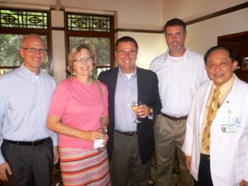 U.S. Consul General Ken Foster is joined by Mr. and Mrs. Carlson, Mr. Mark Magreath and K. Thawatchai.