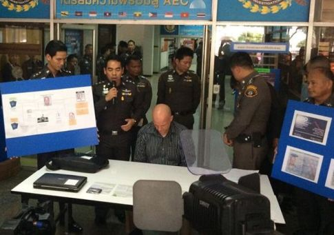 Thomas Andrew Erickson was arrested in Samut Prakan province on warrants from a Thai criminal court and also Denton County, Texas.