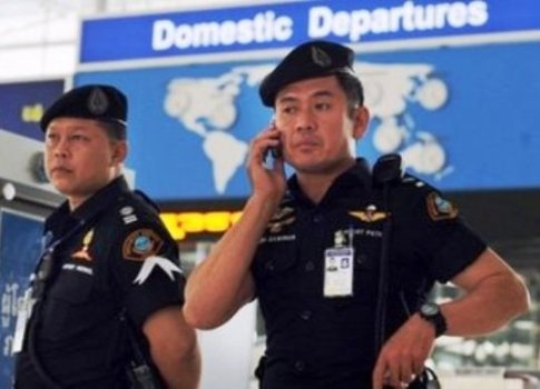 Soldiers and police have been patrolling the airport terminal in Chiang Rai to prevent attacks