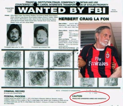 """FBI poster said La Fon owned a sporting goods business in Mexico and speaks Spanish. It said he was """"armed and dangerous""""."""