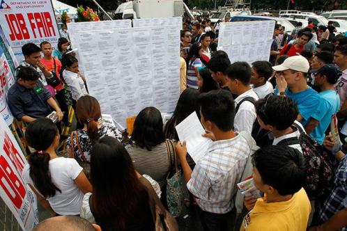 Labour Undersecretary Joel Maglunsod estimated that up to 70 percent of the country's 39-40 million workforce are on short-term contracts.