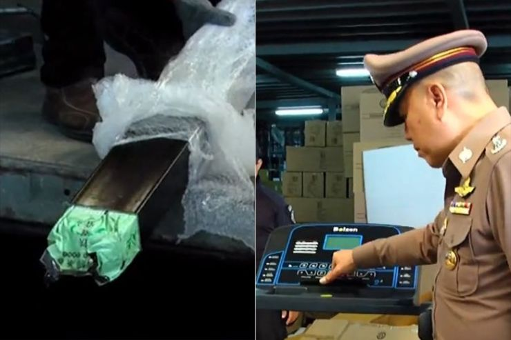 Narcotics Police Seize Crystal Meth Bound for Japan in Treadmills