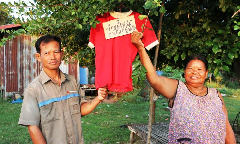 Widow Ghost Thailand red shirt
