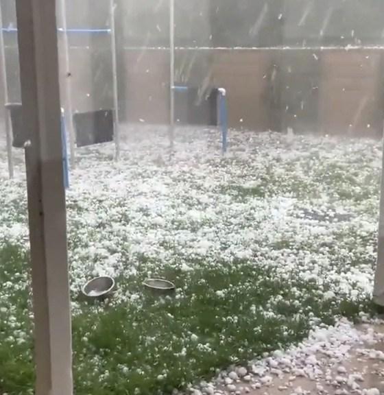 Freak Hailstorm Nakon Phanom