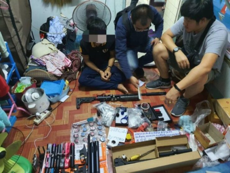 Eight caught selling firearms online in Bangkok