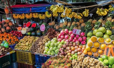 Thai exotic fruits and vegetables