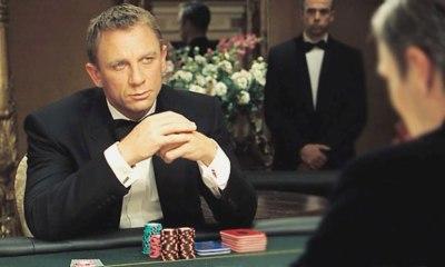 James Bond 007 playing baccarat