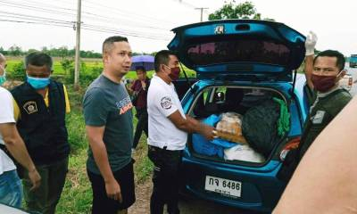Methamphetamine Drug Runner Busted in Northeastern Thailand