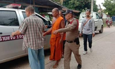Buddhist Monk Thailand pregnant woman
