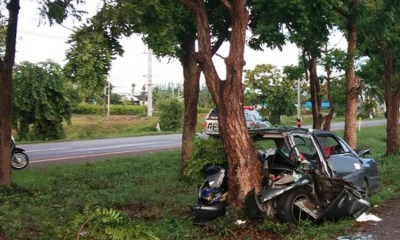 Car, crash, killed, Thailand, accident