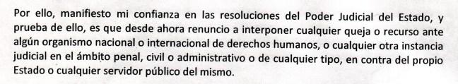 Acuerdo firmado por presos de la administración de Pablo Salazar