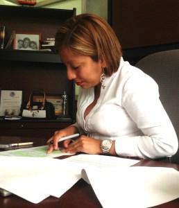Exige la diputada local del PRD, que la Comisión de Vigilancia del Congreso del Estado haga pública la Cuenta Publica del exgobernador Sabines. Foto: Isaín Mandujano/Chiapas PARALELO