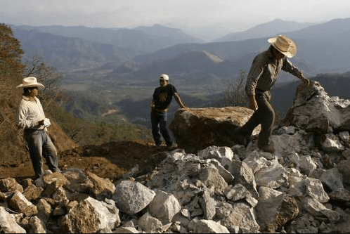 Extracción minera en la sierra de Chiapas. Foto: CIEPAC