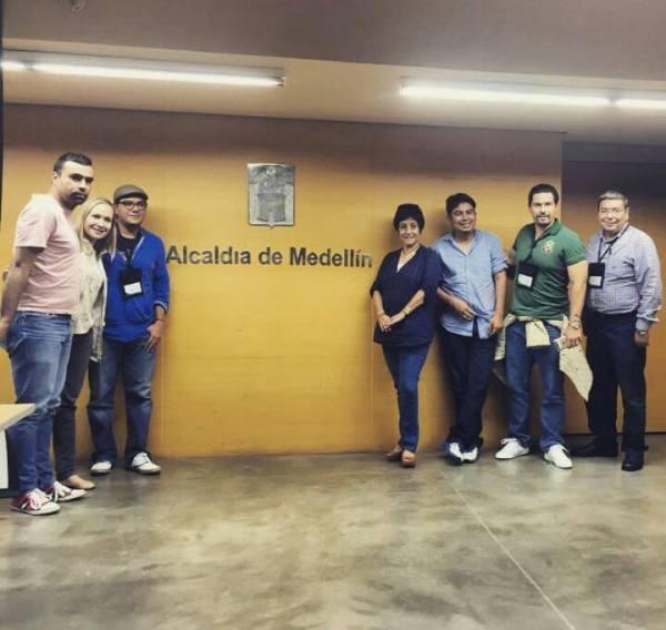 """""""Ciudadanos valuadores"""" del ayuntamiento tuxtleco, en Medellín en un viaje pagado por el alcalde. Foto: Cortesía ayuntamiento de Medellín"""