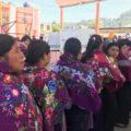 Mujeres de Zinacantán votan el 1 de julio. Foto: Ángeles Mariscal