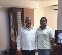 Raciel López Salazar, fiscal general de Chiapas y Mario Gómez, periodista fallecido este viernes.