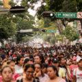 Estudiantes, docentes y desplazadas de Chiapas marcharon por Tlatelolco - Foto Francisco López (15)