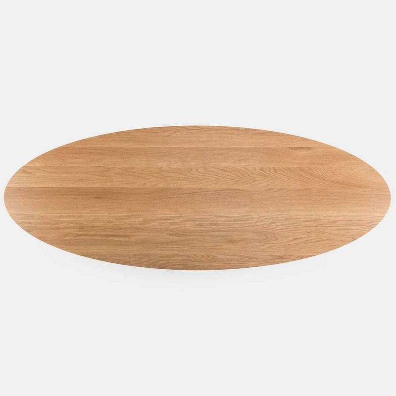 trio oval coffee table by de la espada