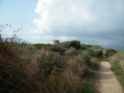 Le sentier qui mène à la tour