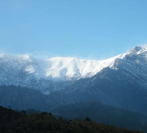 La montagne au dessus de Venaco.