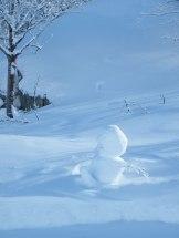 Un bonhomme de neige d'arbre