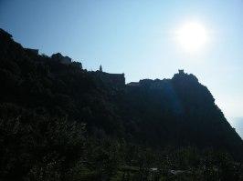 En haut, le village de Nonza.